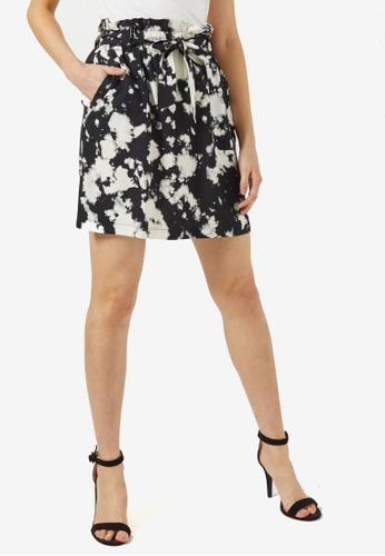Dorothy Perkins black Black Tie-Dye Mini Skirt 44D85AAA319402GS_1