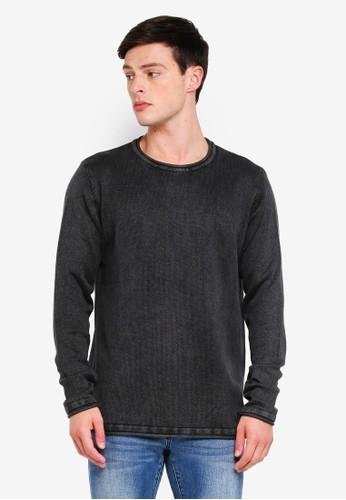 Indicode Jeans black Cuti Longline Washed Knitted Sweater E63F8AA436F2FEGS_1