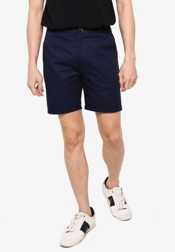 ZALORA BASICS navy Chino Shorts 1E7E0AA306D100GS_1