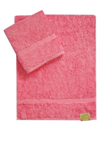 Cotton Fields pink Cotton Fields Hand Towel Plain FF797HL727132CGS_1