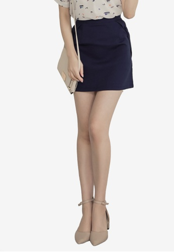 Eyescream blue and navy Ribbon Sides Mini Skirt AD727AA1729F41GS_1