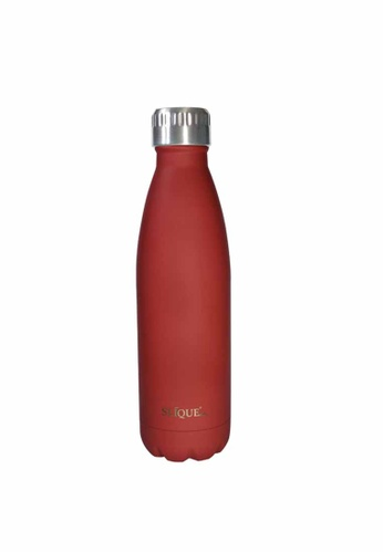Slique red Insulated Stainless Steel Vacuum Water Bottle/Tumbler 500ml (Matte Finish) 65796HLC0D04D5GS_1