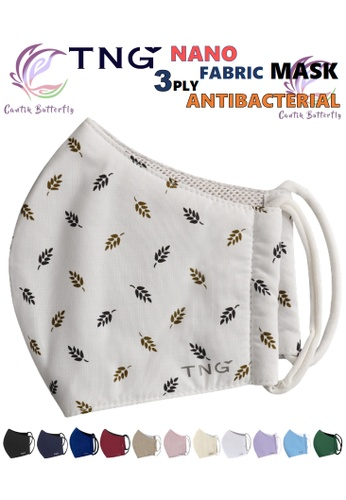 Cantik Butterfly TNG 3 Ply Antibacterial Nano Fabric Mask Reusable (Brown Leaf) Set of 5 97315ES7A2DD3DGS_1