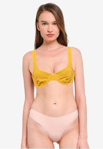 Charlie Holiday 黃色 羅紋比基尼泳衣 FDDADUS8D6A9ACGS_1