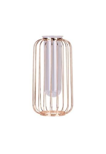 DILAS HOME gold Test Tube Metallic Vase II (Champagne Gold) - Big 28E28HLB2A3204GS_1