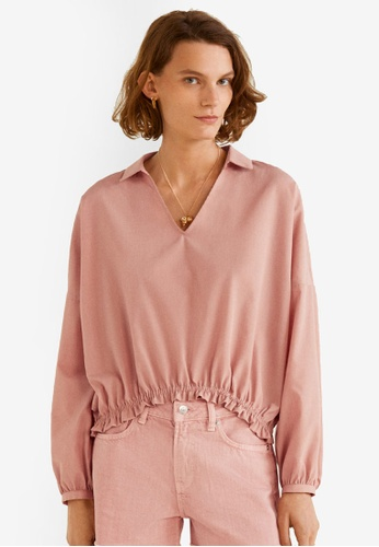 Mango pink Puffed Sleeves Blouse DFB84AA7CF4351GS_1