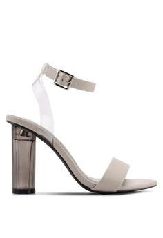 1e75b4a8fbb Nose grey High Lucite Heel Sandals 375A0SH0CF27DDGS 1
