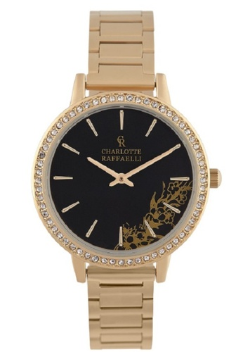 Charlotte Raffaelli gold Charlotte Raffaelli CRS18055 Women's Gold Analogue Quartz Watch with Stainless Steel Bracelet 4F8CDAC8EE6FA1GS_1