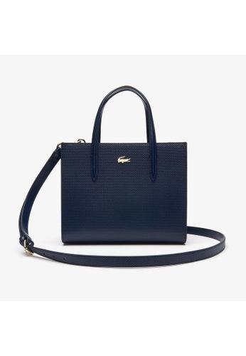 Lacoste Lacoste Women's Chantaco Dual Carry Piqué Leather Zip Tote Bag NF2562CE 9FB81ACDDA1DBFGS_1