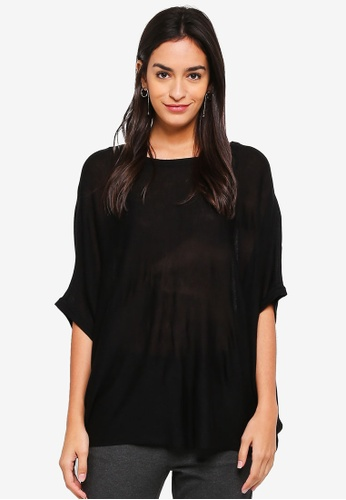 ONLY black Josephine Short Sleeve Pullover EDCDBAAF227581GS_1