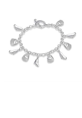 Glamorousky silver Fashion High Heels Tote Charm Bracelet BECF6AC49987A8GS_1