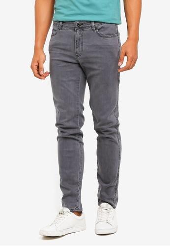 MANGO Man 灰色 修身牛仔褲 BB74DAA713C247GS_1