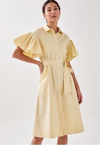 Love, Bonito yellow Weston Frill Midi Dress 1E39EAA4019263GS_1