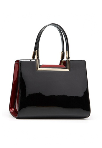 Twenty Eight Shoes black VANSA Classic Patent Leather Hand Bag VBW-Hb59 D731DACA05672CGS_1