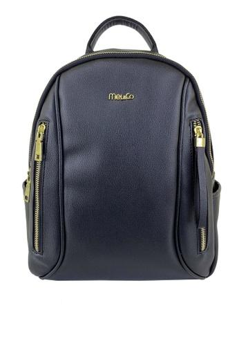 Mel&Co black Faux Leather Backpack 61A7EACA51F4E5GS_1