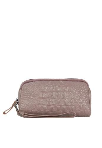 HAPPY FRIDAYS Zipper Crocodile Texture Leather Wallet JN301 53293ACD670BF5GS_1