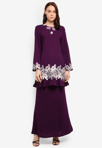 peace collections purple Lace Patch Kurung 84247AA764B6CAGS_1