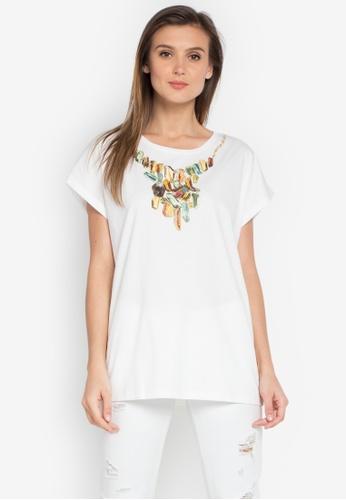Diesel white T-Serra-Y T-Shirt DI095AA0JV80PH_1