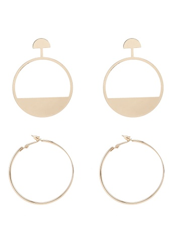 Red's Revenge gold 2-In-1 Just Golden Dangle & Hoops Earrings Set 26342ACE85361EGS_1
