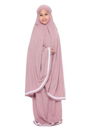 QUTN Telekung Rania in Blush Pink C49ECKCCC133E1GS_1