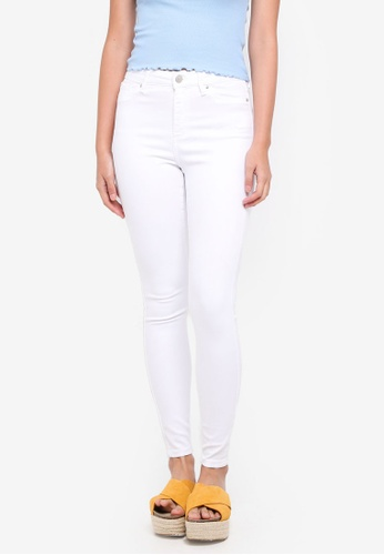 Miss Selfridge white White Skinny Fit Lizzie Jeans 248D4AA1681E7CGS_1