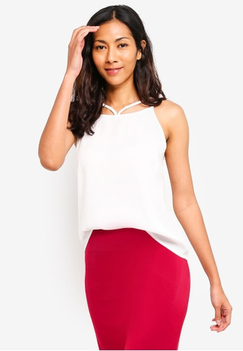 ZALORA BASICS white Basic Double Strap Cami Top 02C0BAAB6324B8GS_1
