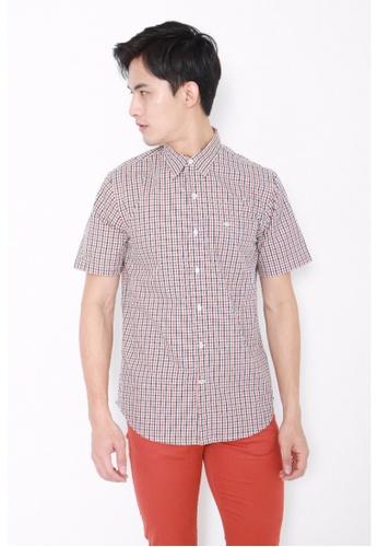 Dockers brown Dockers Easy Casual Short Sleeve Shirt Tattersall Arabian Spice DO282AA0FVZISG_1