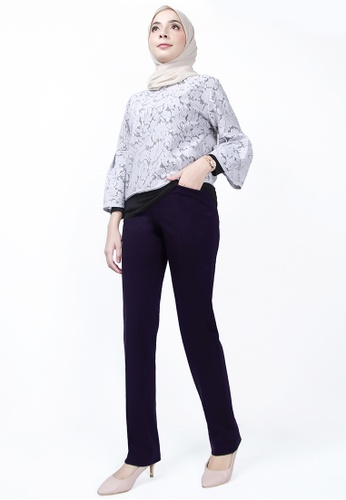 Ladies Jeans blue Women Straight Leg Crop Pants BE4C3AA97F800AGS_1