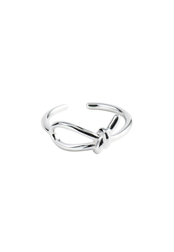 A-Excellence silver Premium S925 Sliver Braided Ring 3F0D3ACEFD6154GS_1