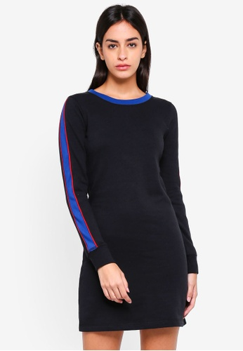 Abercrombie & Fitch black Side Stripe Fleece Dress 09B31AA6CE2E36GS_1