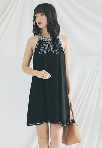 Shopsfashion black Embroidery Cut In Mini Dress  SH656AA0GHZKSG_1