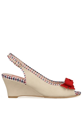 SPUR beige Preppy Wedge SP642SH53MAWHK_1