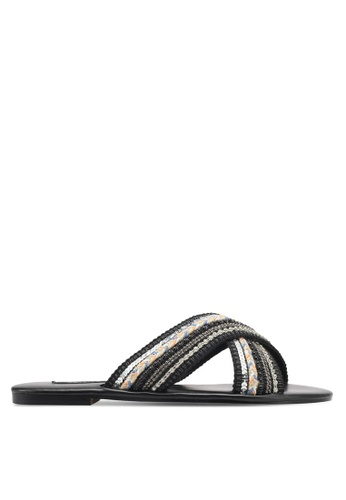 ZALORA black Cross Strap Sandals 71C33ZZ4819329GS_1
