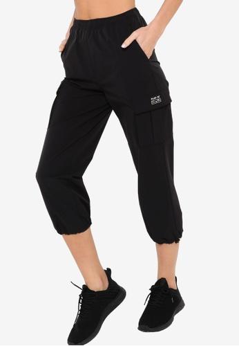 361° black Cross Training Sports Cropped Pants 10421AAADB1316GS_1