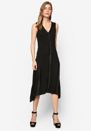 絲esprit香港門市綢滾邊無袖連身裙, 服飾, 洋裝