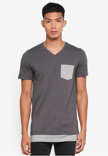 Jack & Jones grey Heaven Tee 10A7FAA3BAF4CBGS_1