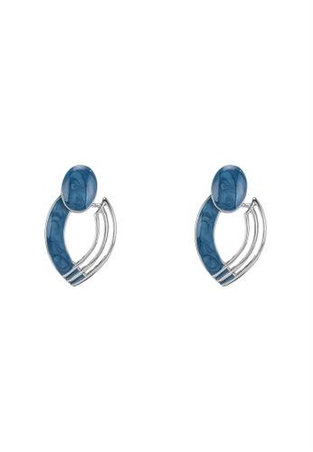 niko and ... blue Statement Stud Earrings 5EA9DACDB66EC7GS_1