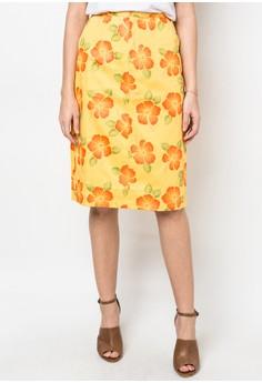 Gumamela Print Skirt
