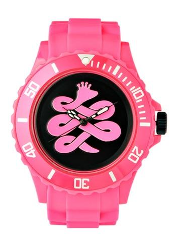 Chronomart pink Baem Korea Japan Black Dial Quartz Rubber Strap Fashion Wrist Watch CH783AC86WXXPH_1