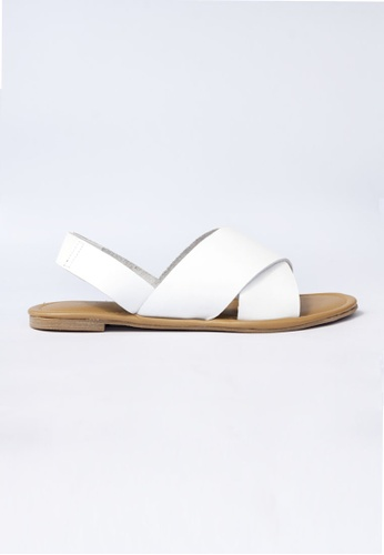 HDY white Stella Flats Sandals HD484SH66VYJPH_1