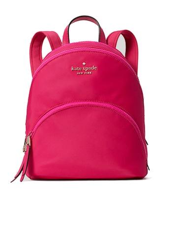 Kate Spade pink Kate Spade Karissa Nylon Medium Backpack wkru6586 Bright Magnta D9BF0ACDEAAF2CGS_1