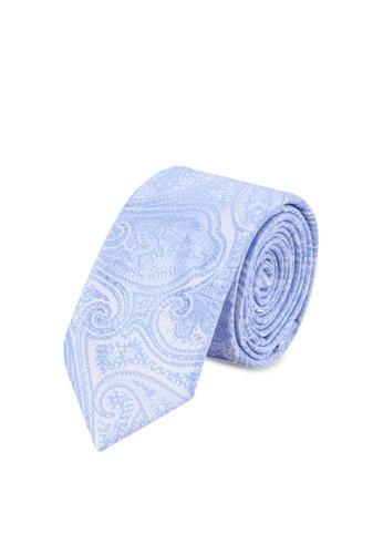 85956d15c40b0 Burton Menswear London blue Light Blue Paisley Tie And Pocket Square Set  075DEAC3AF7B6FGS_1