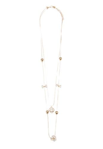 層次花飾珍珠項鍊, 飾品配件,esprit童裝門市 飾品配件