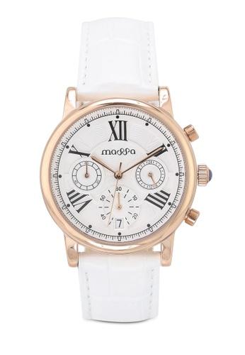 Massa Collections white Ingenious White (White) Ladies Chronograph Leather Watch 54F2DAC0760F70GS_1