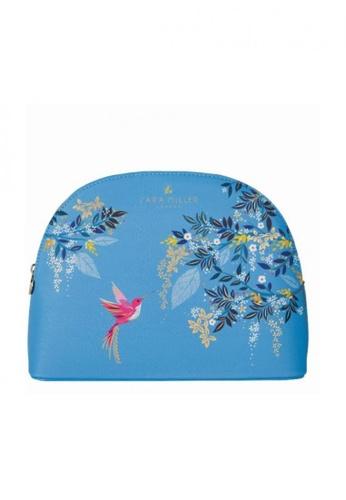 Sara Miller blue Sara Miller London - Large Cosmetic Bag - Light Blue Hummingbird (FG8548) AC9C6AC4254D66GS_1