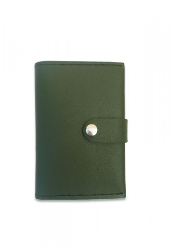 Louiebelle Collection green Louise Passport Wallet with Lock 049E2AC2014355GS_1