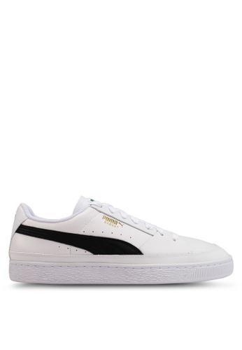 Puma white Basket Skate Sneakers 4E423SH837E880GS_1