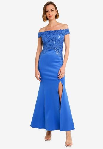 5fa6c55d3469 Buy Lipsy Bardot Sequin Embellished Maxi Dress Online on ZALORA Singapore