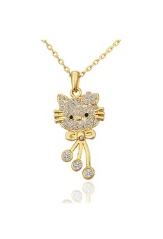 Bryeth Hello Kitty Gold Plated Necklace