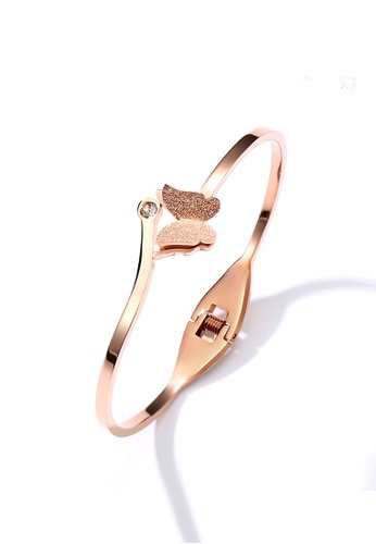 CELOVIS gold CELOVIS - Queen Alexandra Butterfly Bangle in Rose Gold BF032AC124CFABGS_1